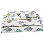 Full New Wave Nautical Sheet SetIncludes fitted sheet, flat sheet and two pillowcases