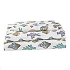 Twin New Wave Nautical Sheet SetIncludes fitted sheet, flat sheet and one pillowcase