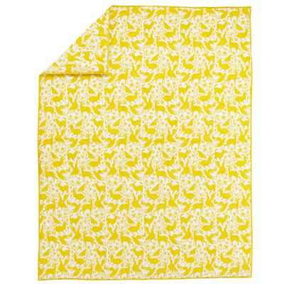 Animales Gráficos Yellow Comforter (Twin)