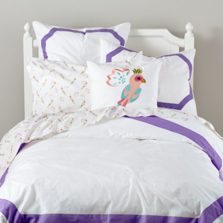Bordeaux Purple Border Bedding - Twin Purple Bordeaux Duvet Cover