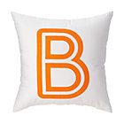 "Orange ""B"" Bright Letter Throw Pillow"