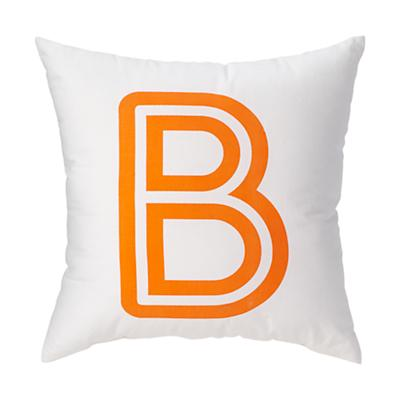 'B' Bright Letter Throw Pillow