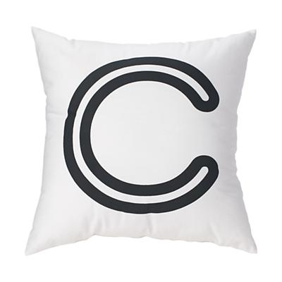 'C' Bright Letter Throw Pillow