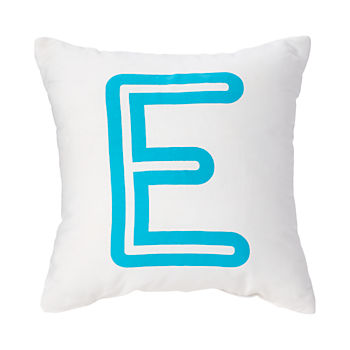 'E' Bright Letter Throw Pillow