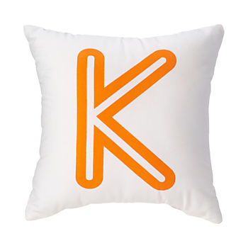 'K Bright Letter Throw Pillow