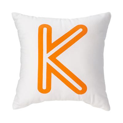 'K' Bright Letter Throw Pillow