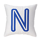 Blue 'N' Bright Letter Throw Pillow