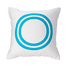"Aqua ""O"" Bright Letter Throw Pillow"
