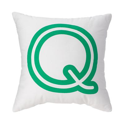 'Q' Bright Letter Throw Pillow