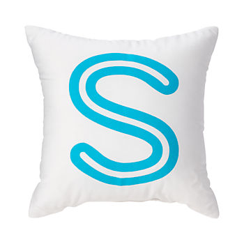 'S' Bright Letter Throw Pillow