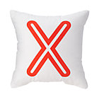 "Red ""X"" Bright Letter Throw Pillow"