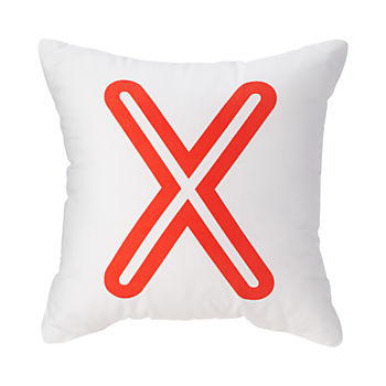 'X' Bright Letter Throw Pillow