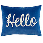 Blue Hello Throw Pillow Cover