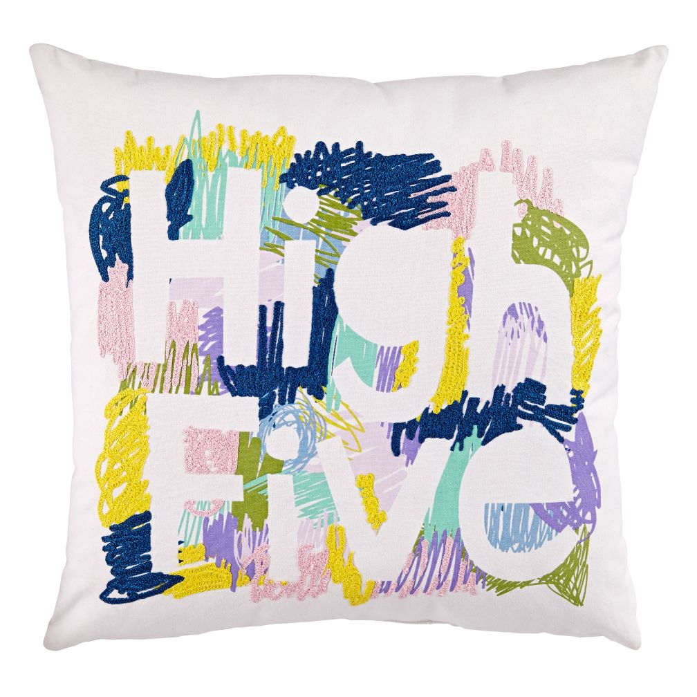 High Five Throw Pillow (Pink)