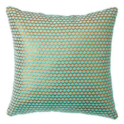 Scallop Throw Pillow - Aqua Scallop Throw Pillow