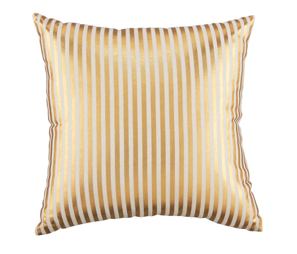 Pinstripe Pillow (Gold)