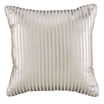 Pinstripe Pillow (Silver)