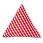 Pink Stripe Triangle Throw Pillow