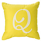 'Q' Typeset Throw Pillow