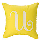 'U' Typeset Yellow Throw Pillow