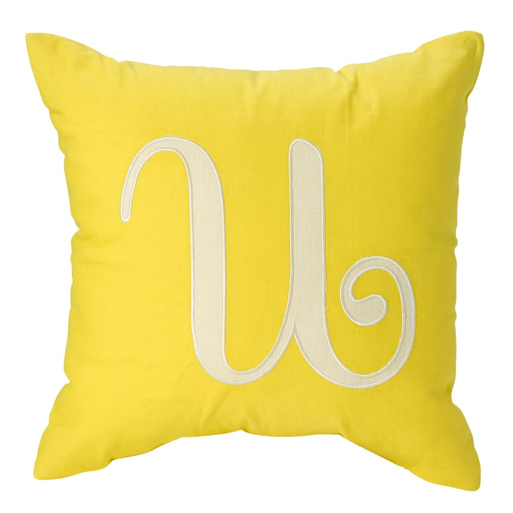 'U' Typeset Throw Pillow