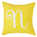 'N' Typeset Yellow Throw Pillow