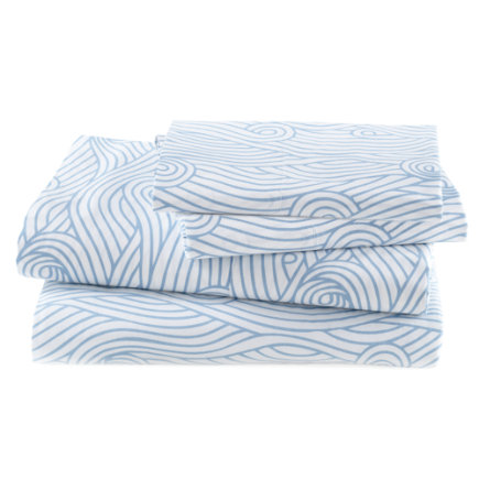 3pc Blue Waves Twin Sheet Set
