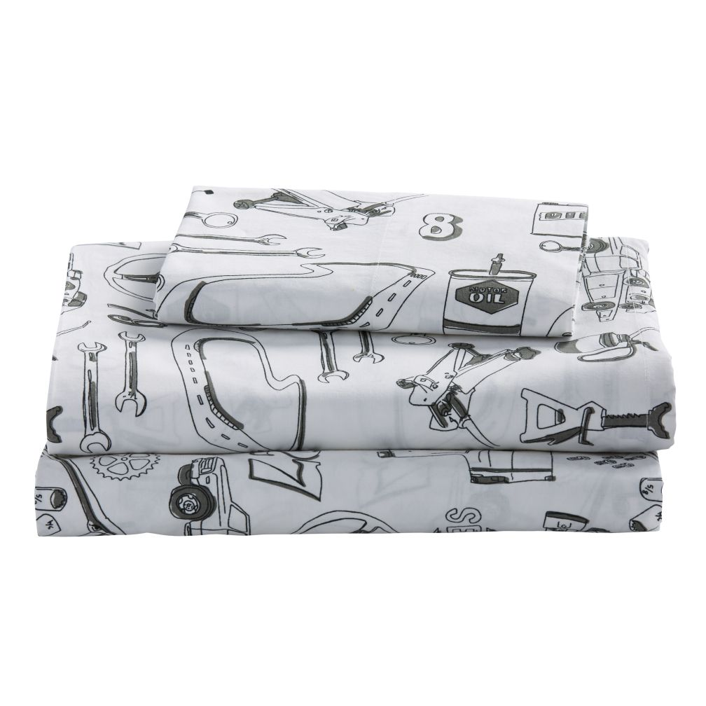 Pit Crew Twin Sheet Set