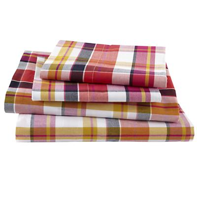 Pick Your Plaid Pink Sheet Set (Queen)