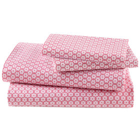 Girls Sheets: Pink Patchwork Sheet Set in Sheet Sets | The Land of Nod
