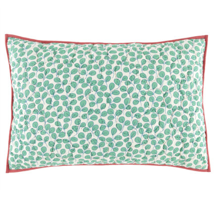 Kids Pillow Shams: Princess and the Pea Leaves Sham - Princess and the Pea Sham (Green Leaves)