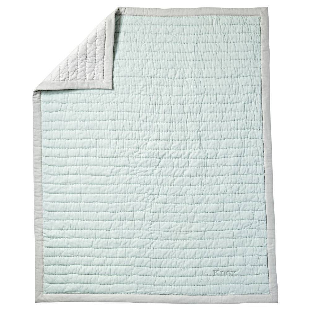 Cotton Candy Baby Quilt (Mint)