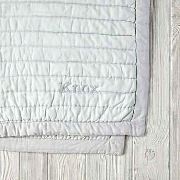 Personalized Cotton Candy Quilt (Mint)