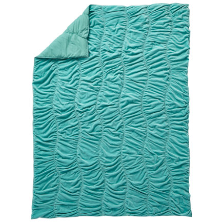 Twin Aqua Snug as a Bug Velvet Quilt