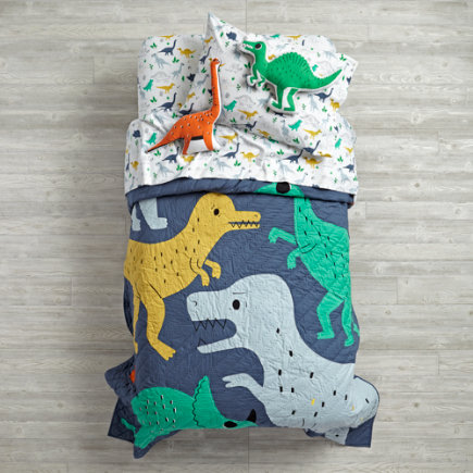 Retro Reptile Dinosaur Kids Bedding - Twin Retro Reptile Quilt
