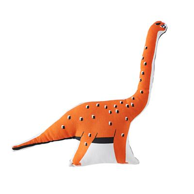 Retro Reptile Throw Pillow (Orange)