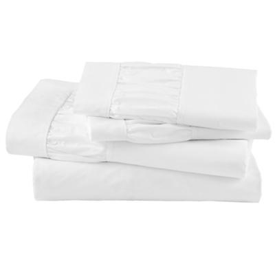 Thrilled to be Frilled White Sheet Set (Queen)