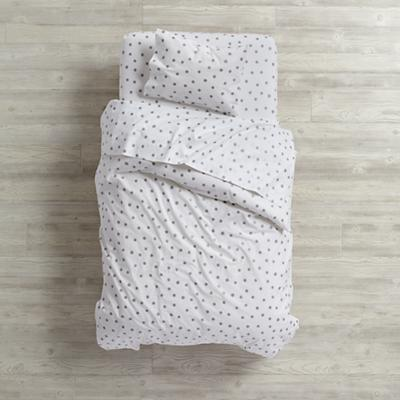 Silver Dot Toddler Bedding