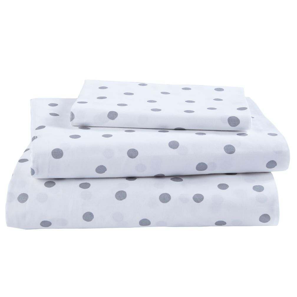 Twin Silver Dot Sheet Set