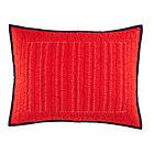 Red Stitched Moving Sham.