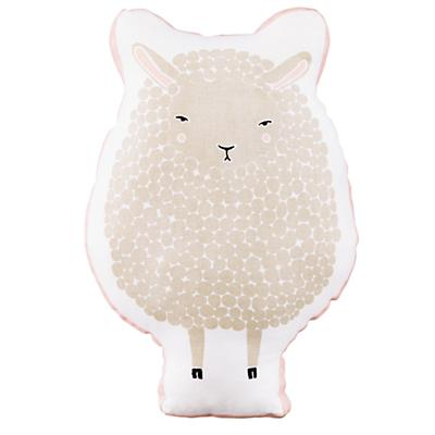 Sheepish Throw Pillow (White)