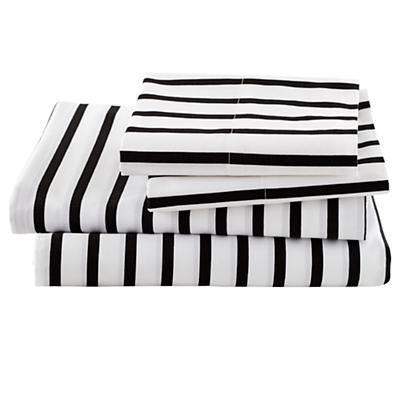 Organic Noir Stripe Sheet Set