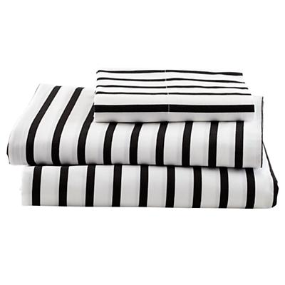 Organic Noir Stripe Twin Sheet Set