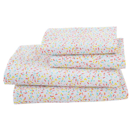 Sprinkle Sheet Set - Full Sundae Best Sheet SetIncludes fitted sheet, flat sheet and two pillowcases
