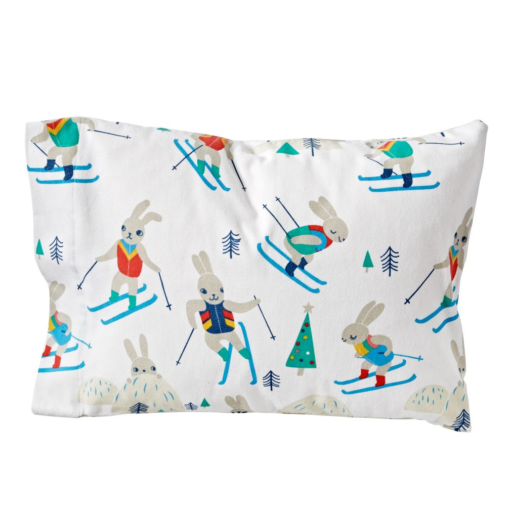 Bunny Hill Flannel Toddler Pillowcase