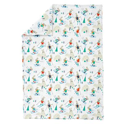 Bunny Hill Flannel Toddler Duvet Cover