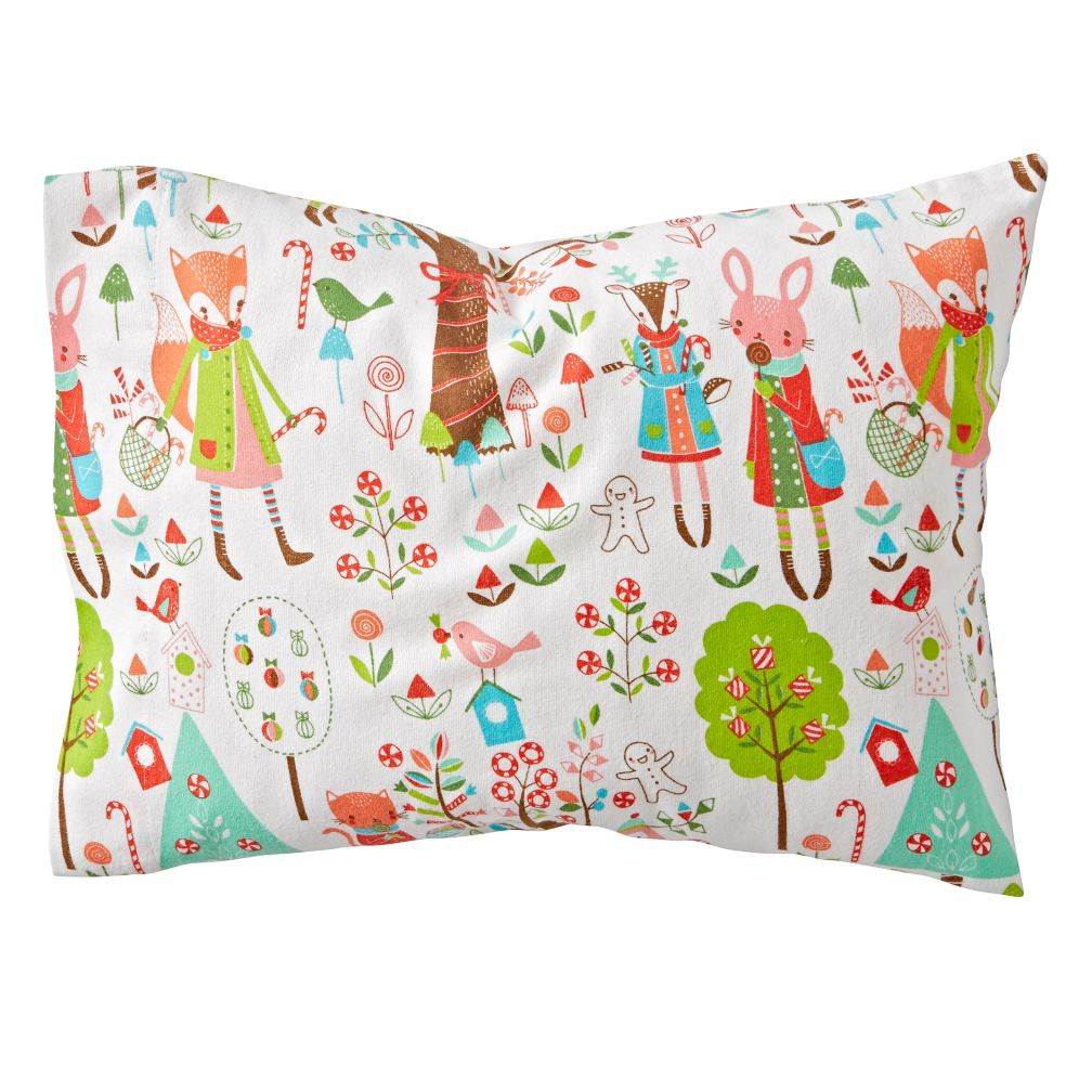 Candy Forest Flannel Toddler Pillowcase