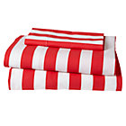 Red Candy Stripe Toddler Sheet Set Includes fitted sheet, flat sheet and one toddler pillowcase