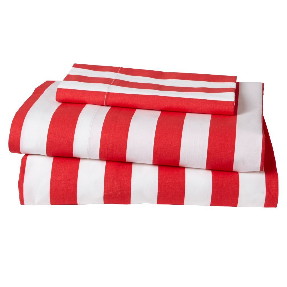 Candy Stripe Toddler Sheet Set (Red)