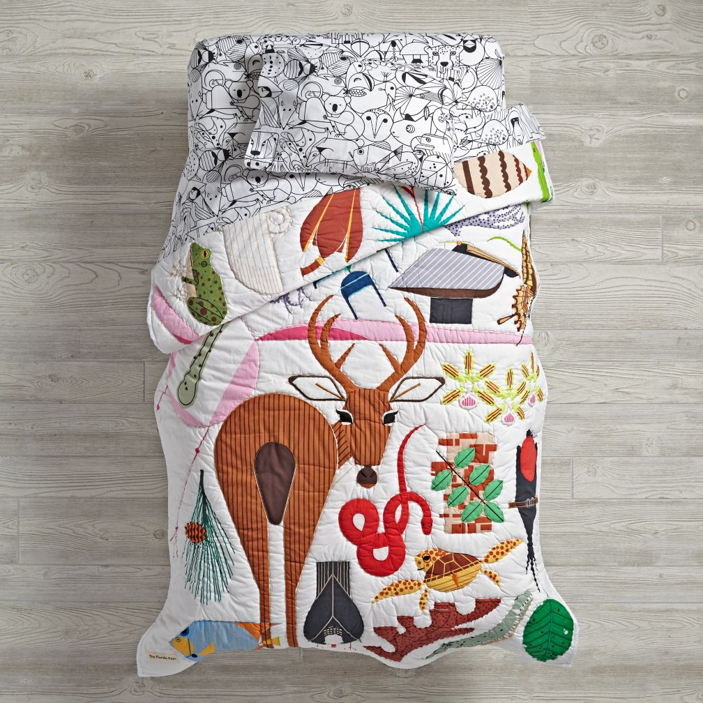 Charley Harper Flordia Keys Toddler Bedding